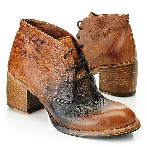 716-151 - Patricia Nash Distressed Leather Lace-up Short Ankle Boots