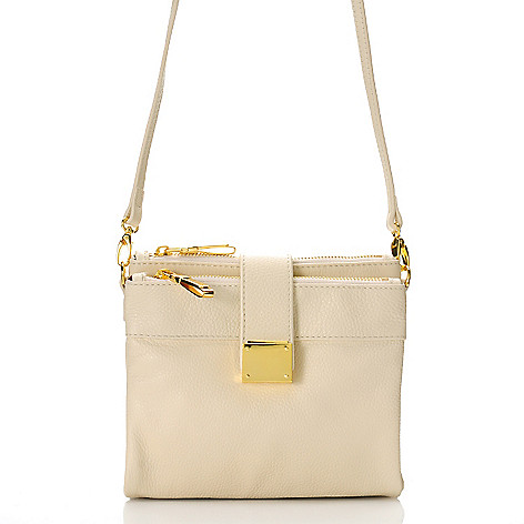 716-165 - Jack French London Grained Leather Wallet-Style Cross Body Bag