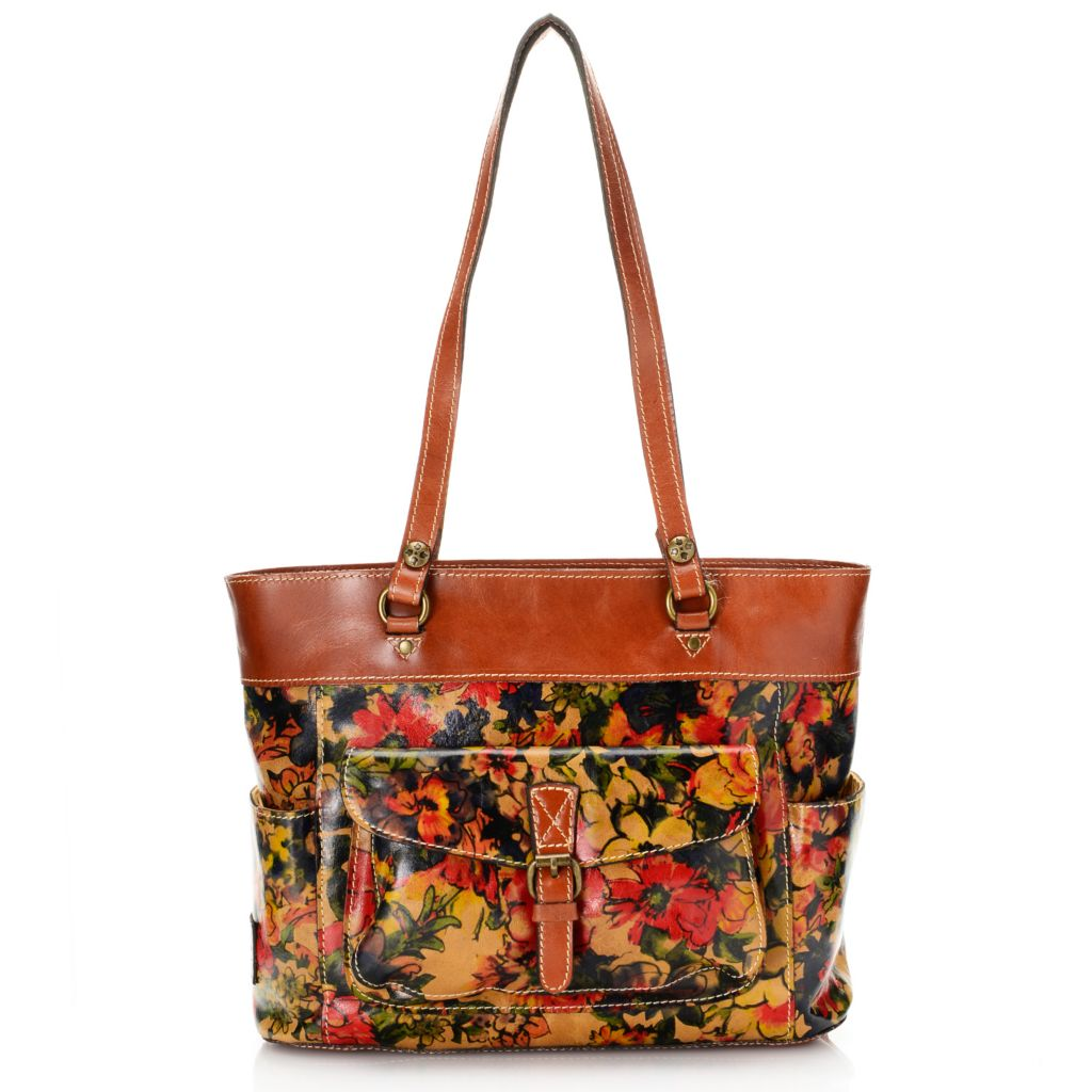 716-237 - Patricia Nash Leather Double Handle Zip Top Tote Bag