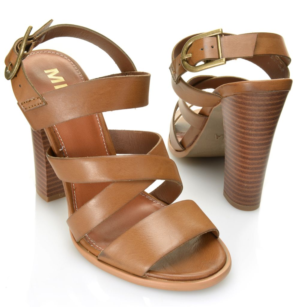 716-338 - MIA Strappy Crisscross Buckle Detailed High Heel Sandals