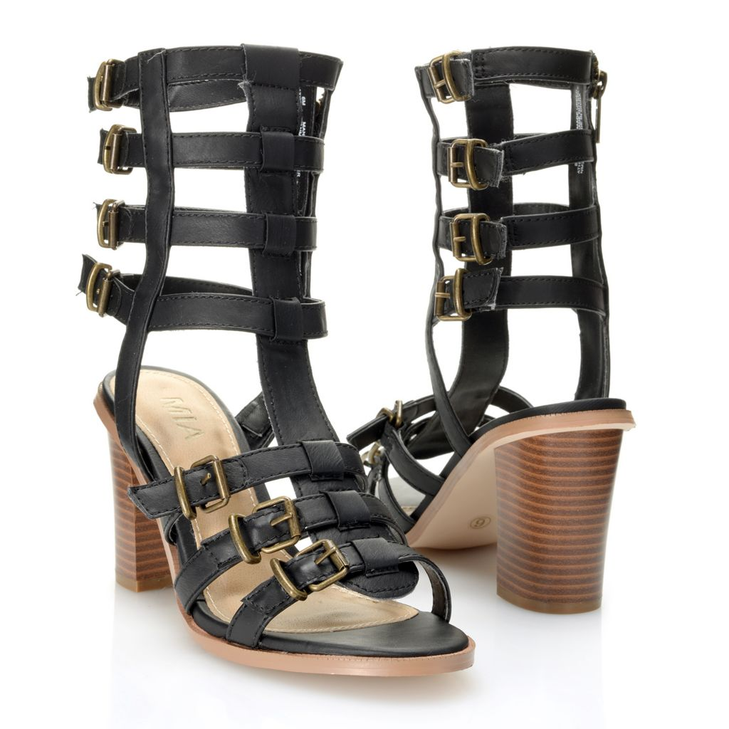 716-339 - MIA Side Zip Gladiator-Style Sandals