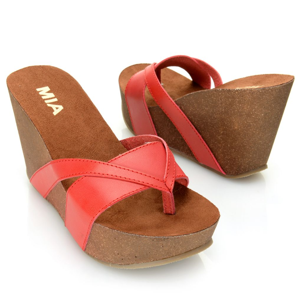 716-341 - MIA Slip-on Thong-Style Platform Sandals