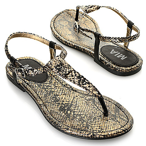716-342 - MIA ''Tonga'' Reptile Embossed Thong-Style Sandals