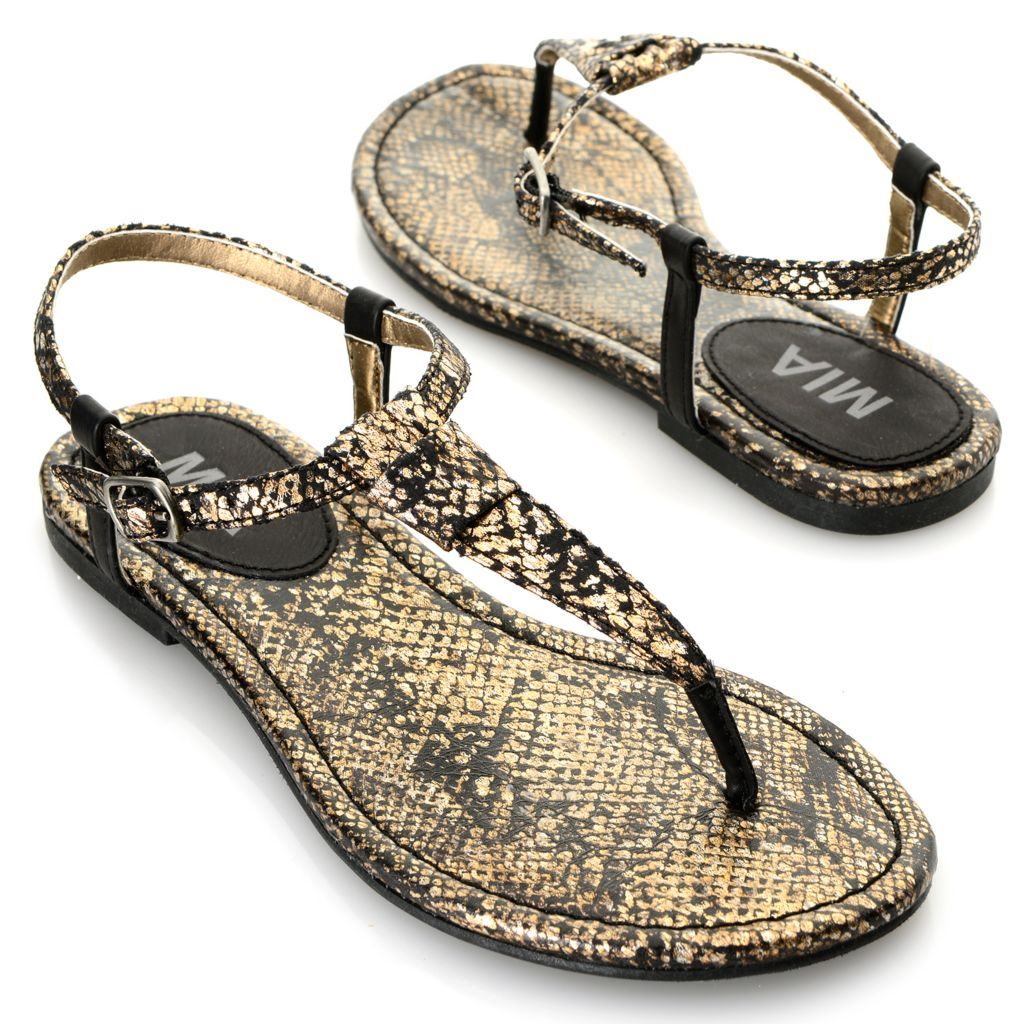 716-342 - MIA Reptile Embossed Thong-Style Sandals