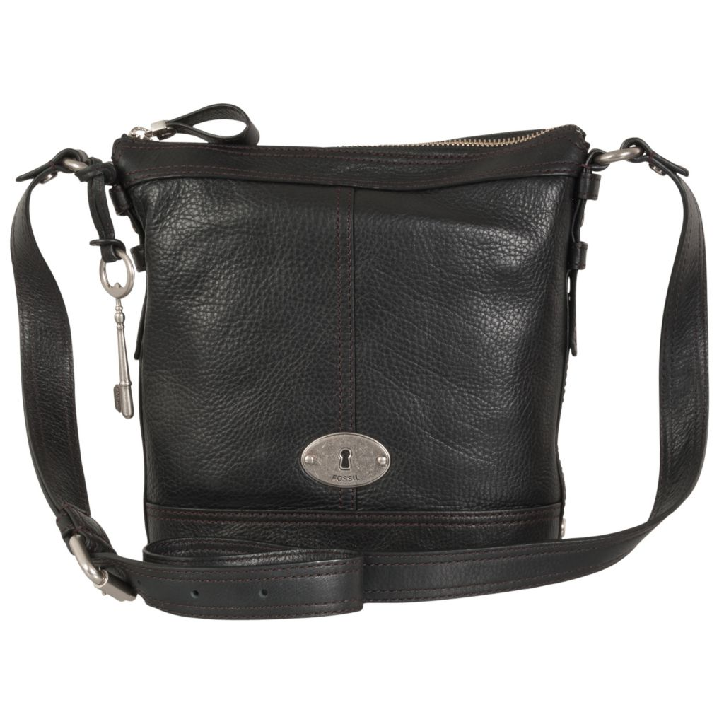 716-366 - Fossil Leather Crossbody Bag