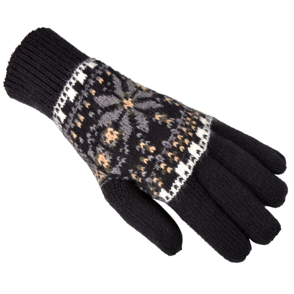 716-447 - Isotoner® Women's Fair Isle Knit Snowflake Pattern Gloves