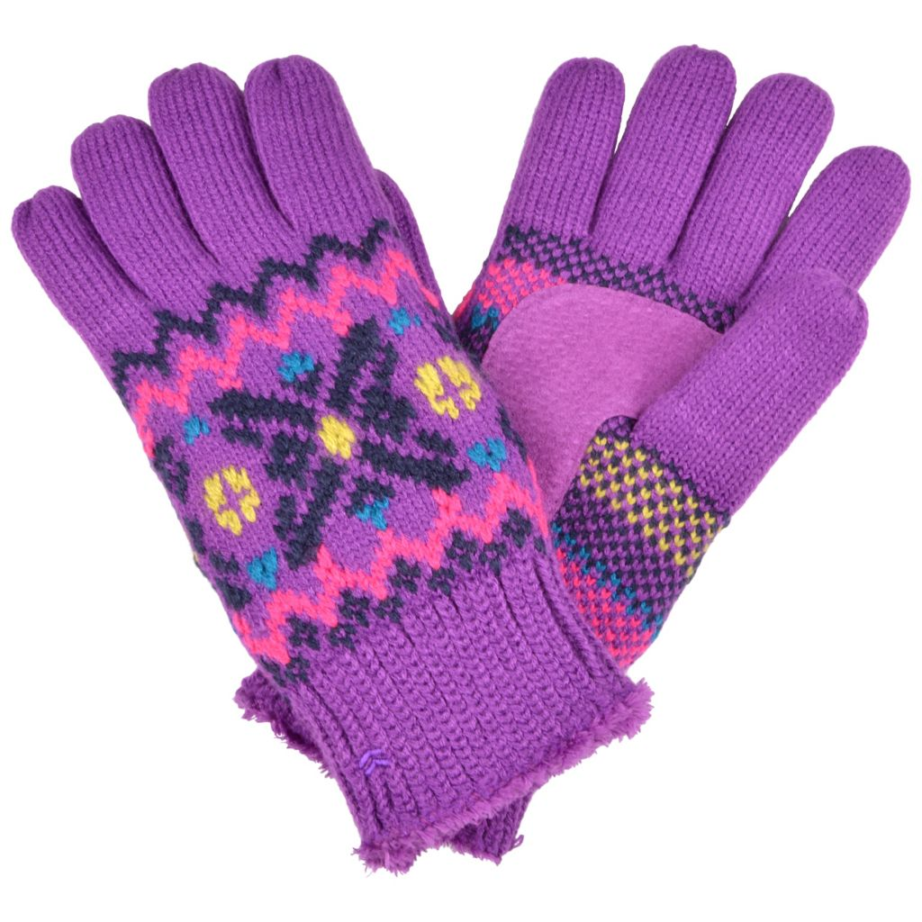 716-450 - Isotoner® Women's Knit Snowflake Pattern Gloves