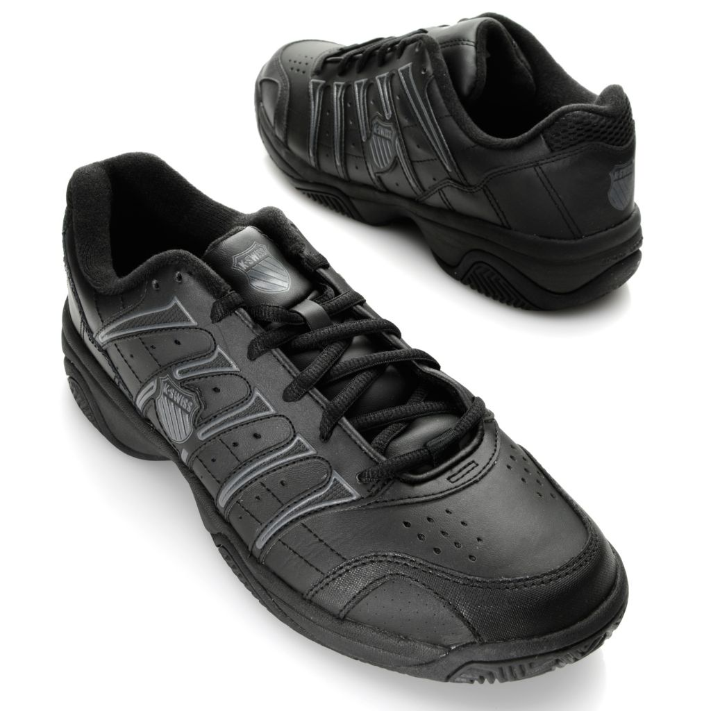 716-483 - K-Swiss® Men's Leather Grancourt™ II Tennis Shoes