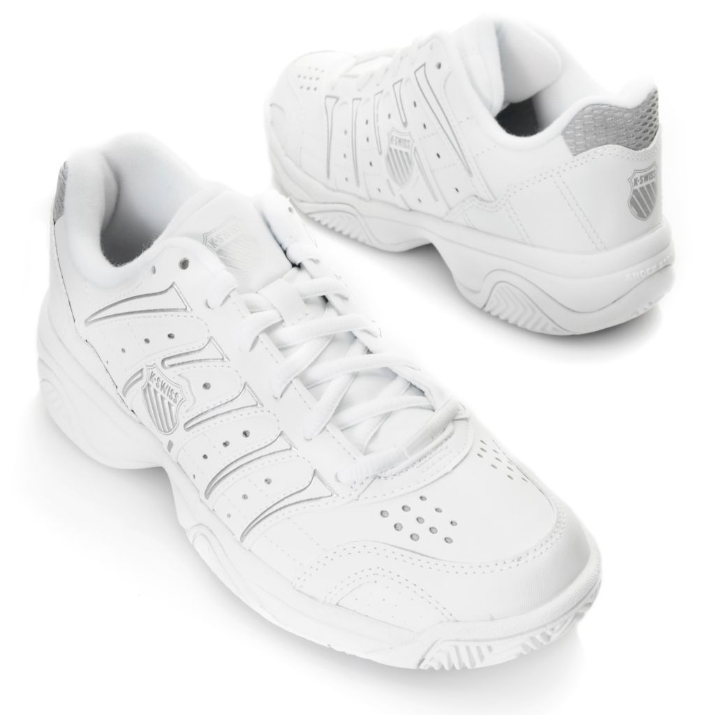 716-487 - K-Swiss® Women' Leather Grancourt II™ Tennis Shoes