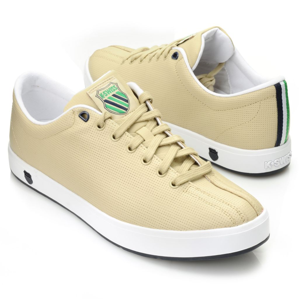 716-493 - K-Swiss® Men's Leather Perforated Sneakers