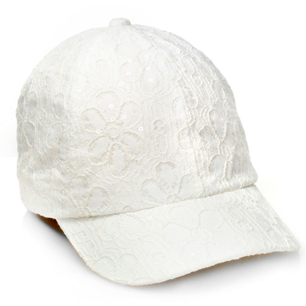 716-578 - Collection XIIX Sequin Daisy Lace Baseball Cap