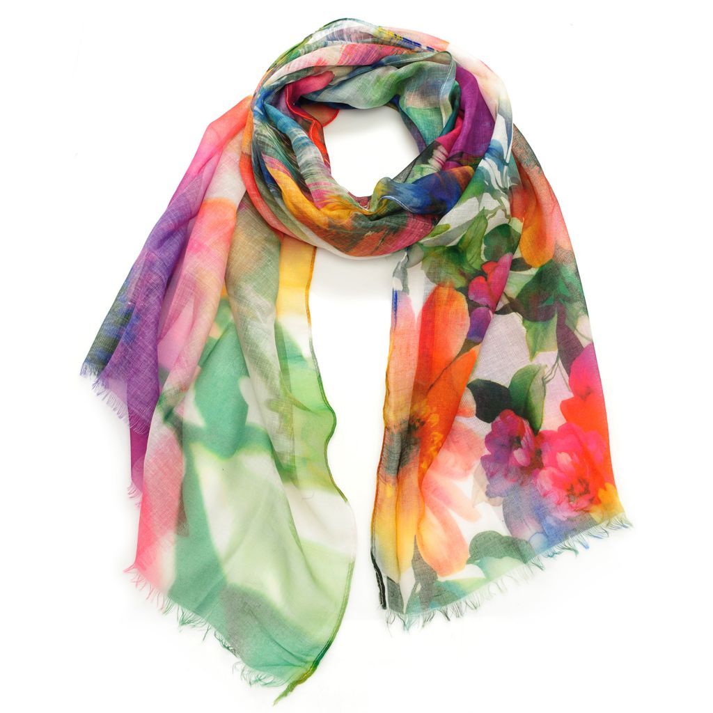 "716-579 - Collection XIIX Multi Color 72"" x 21"" Lightweight Scarf"