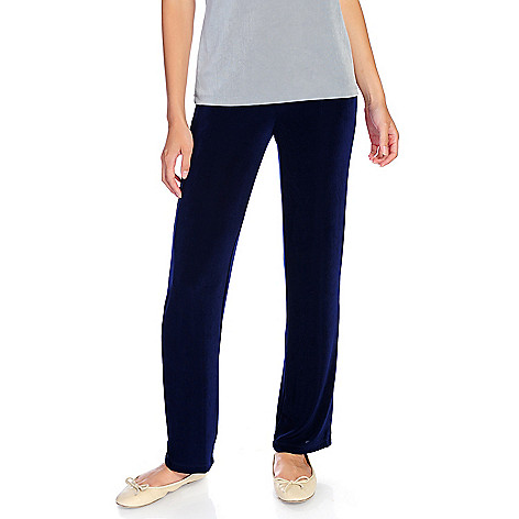 716-611 - Affinity for Knits™ Choice of Length Elastic Waistband Straight Leg Pull-on Pants