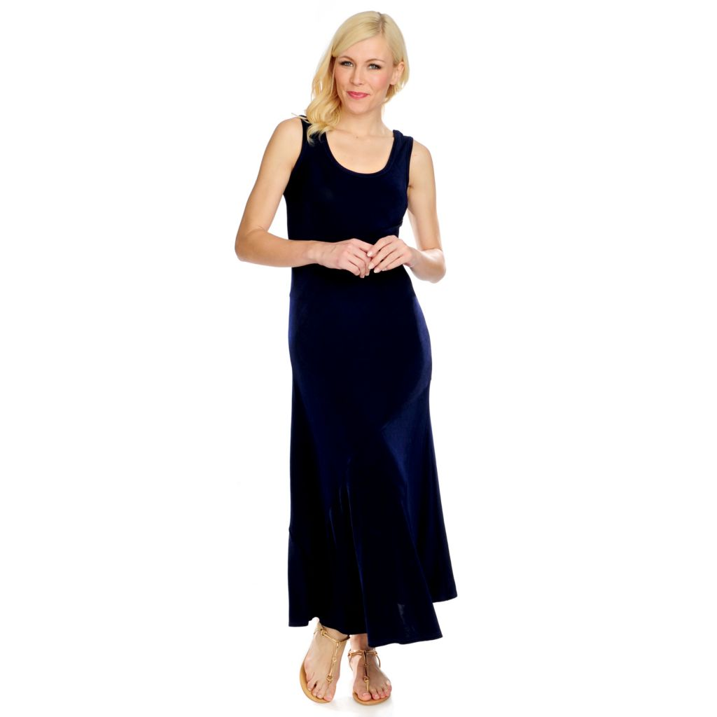 716-617 - Affinity for Knits™ Sleeveless Scoop Neck Pieced Maxi Dress