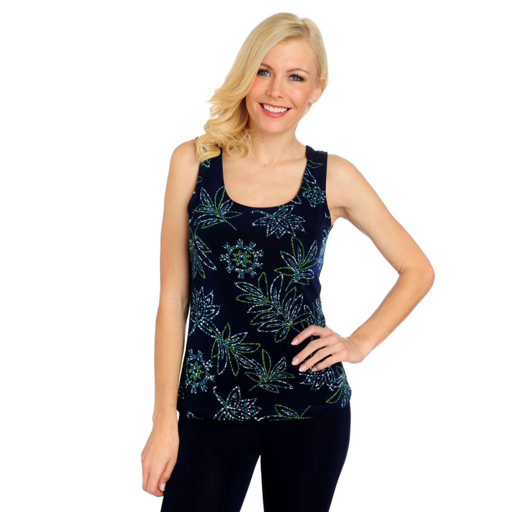 716-620 - Affinity for Knits™ Printed Scoop Neck Basic Tank Top