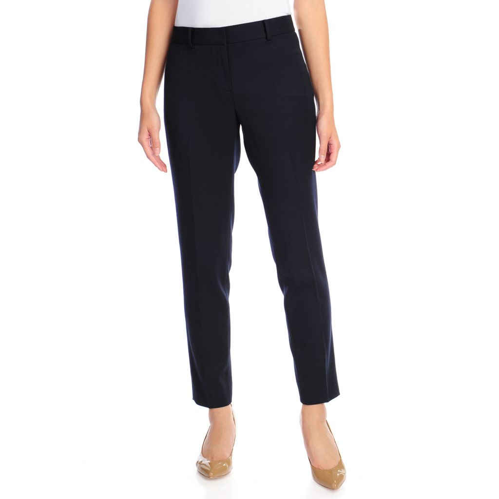 716-685 - Brooks Brothers® Stretch Woven Ankle Length Straight Leg Pants