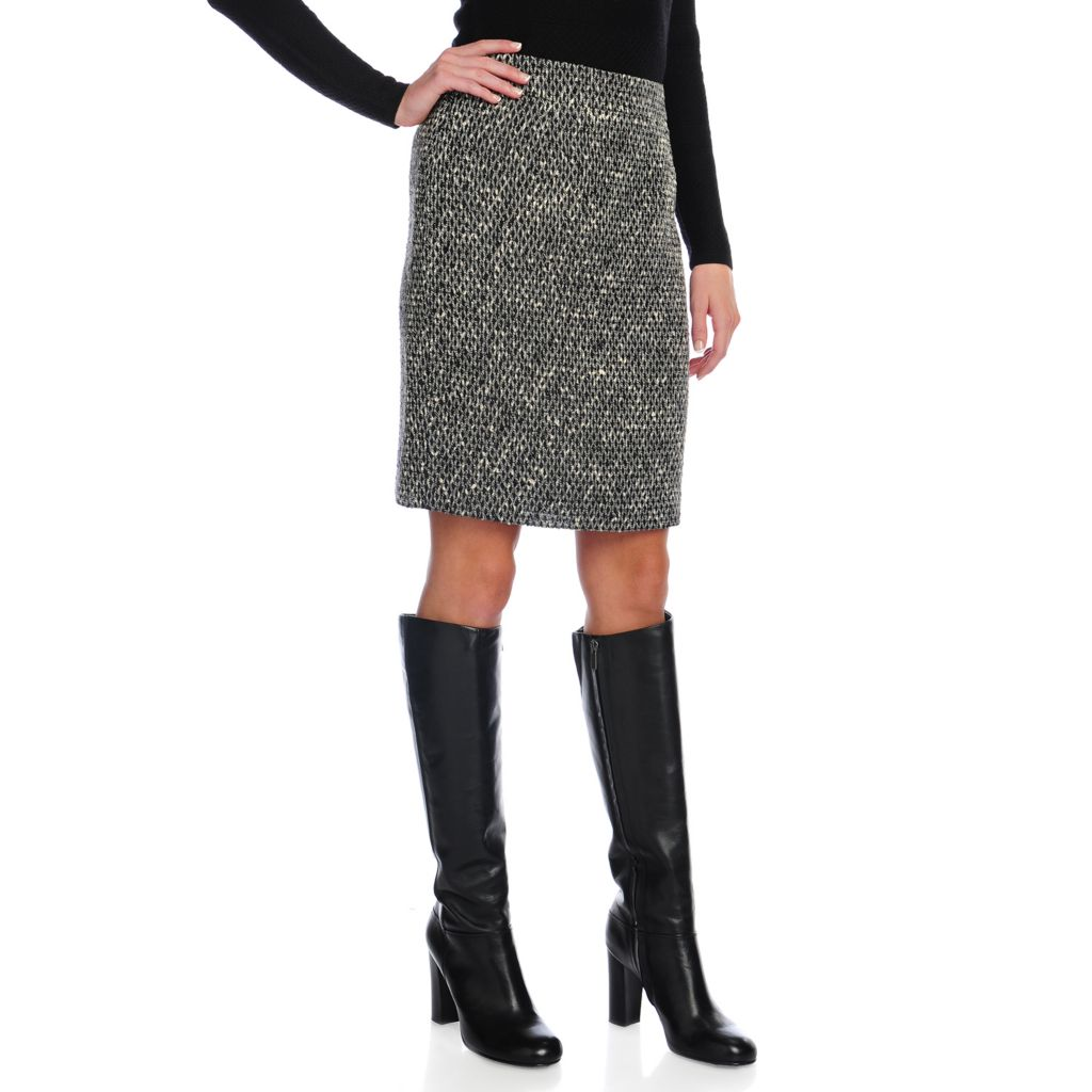 716-752 - Brooks Brothers® Textured Woven Fully Lined Diamond Design Pencil Skirt