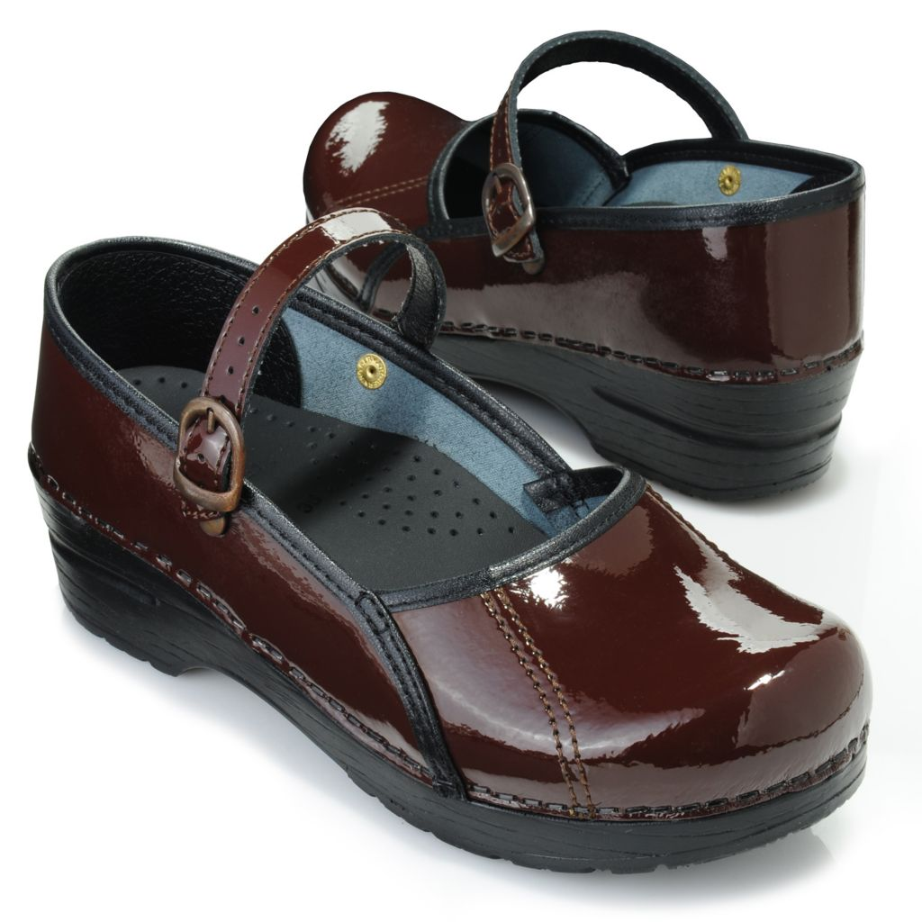 716-911 - Sanita Patent Leather Mary Jane Clogs