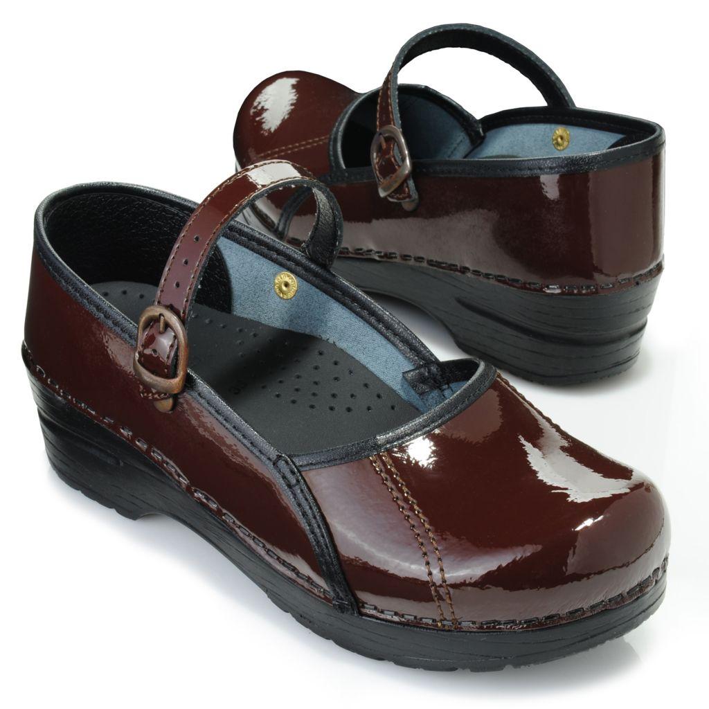 716-911 - Sanita Patent Leather Mary Jane Clogs