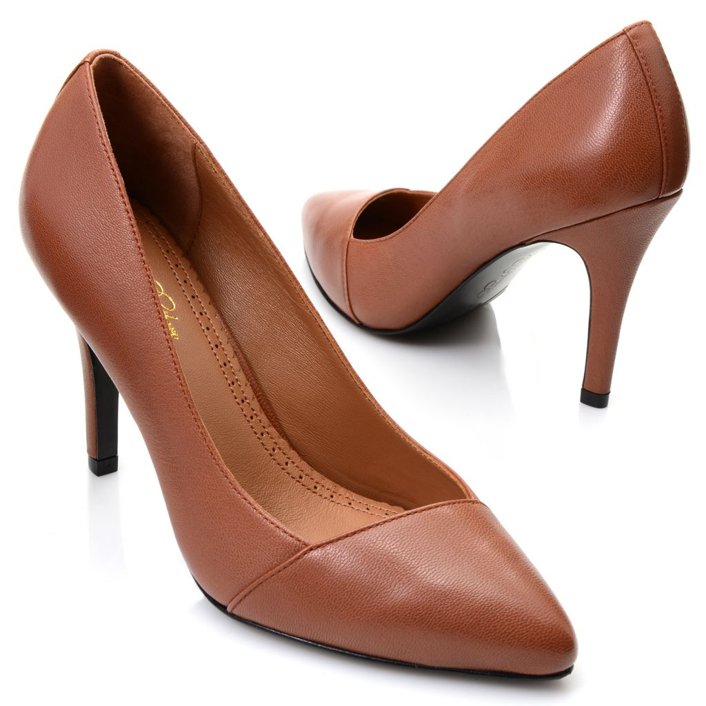 716-915 - Brooks Brothers® Leather High Heel Pumps