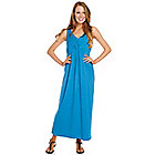 716-922 - Kate & Mallory Knit Sleeveless Gathered Front V-Neck Maxi Dress