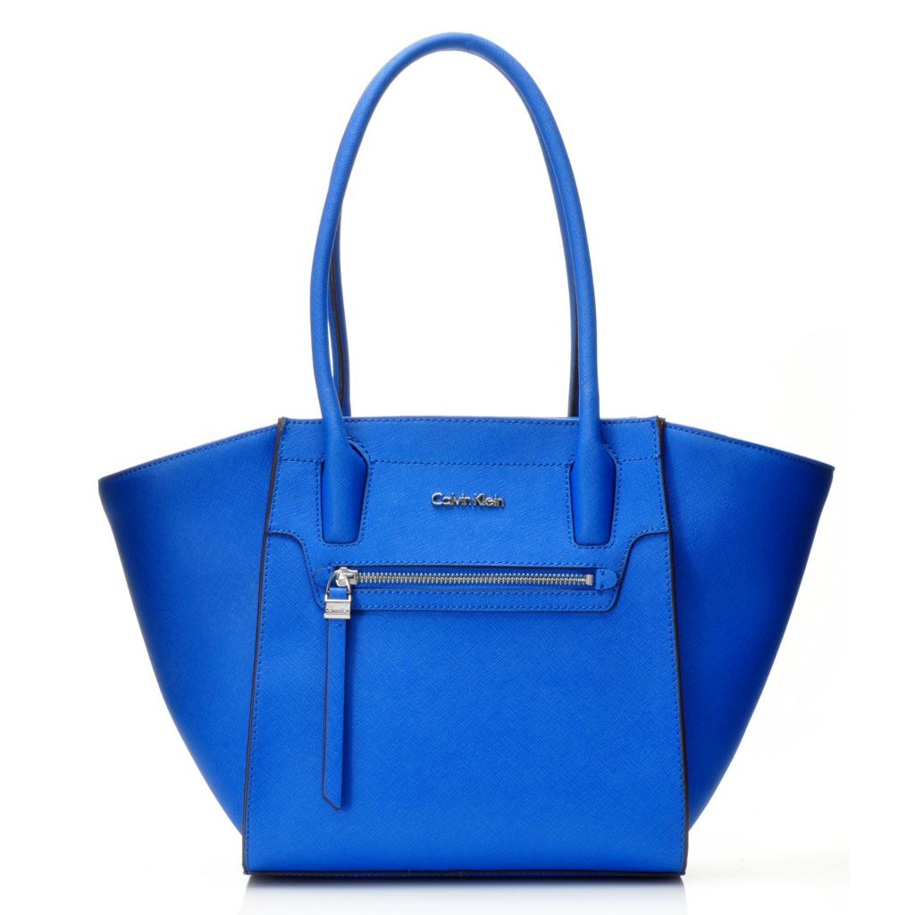 716-926 - Calvin Klein Handbags Saffiano Leather Zipper Tote