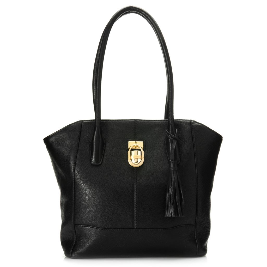 716-929 - Calvin Klein Handbags Pebbled Leather Lock Tote