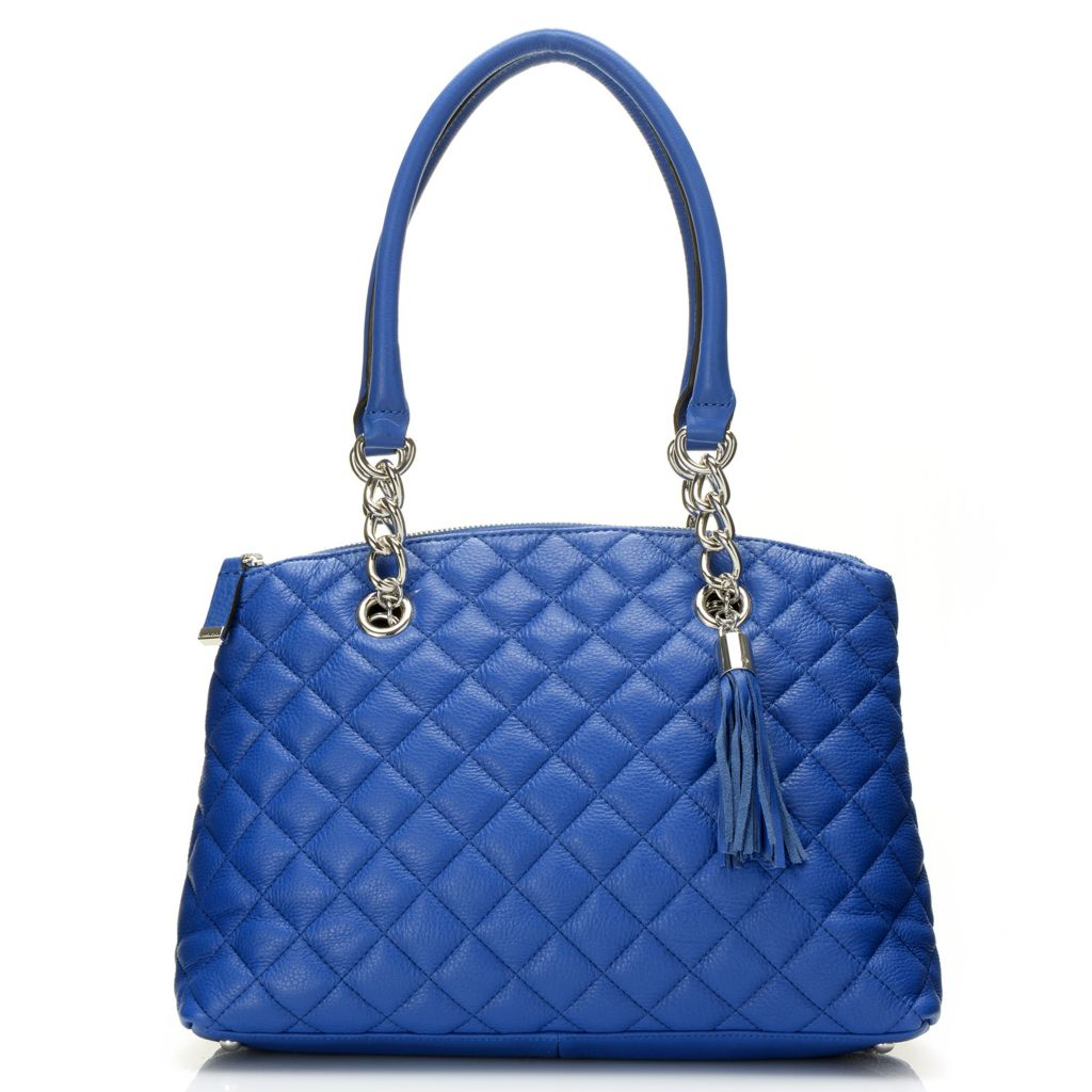 716-932 - Calvin Klein Handbags Quilted Leather Satchel