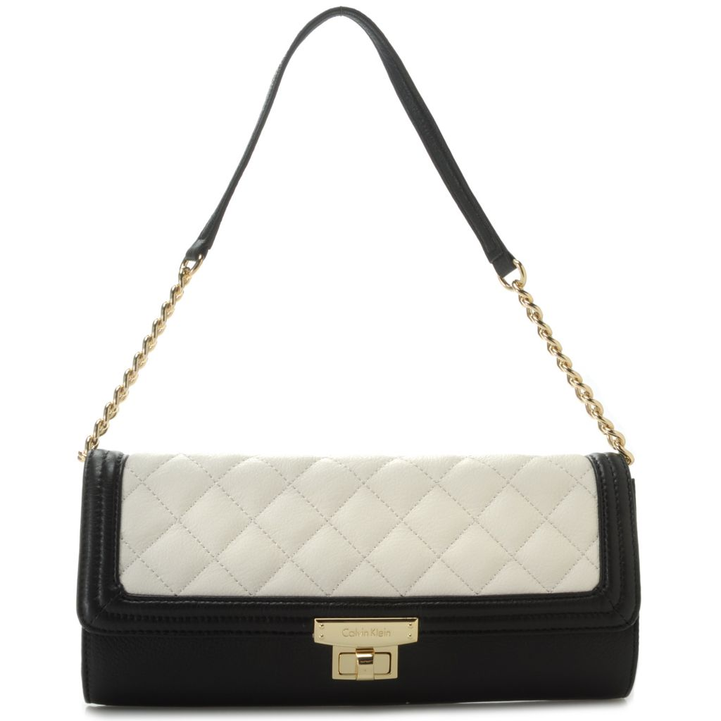 716-933 - Calvin Klein Handbags Quilted Leather Clutch