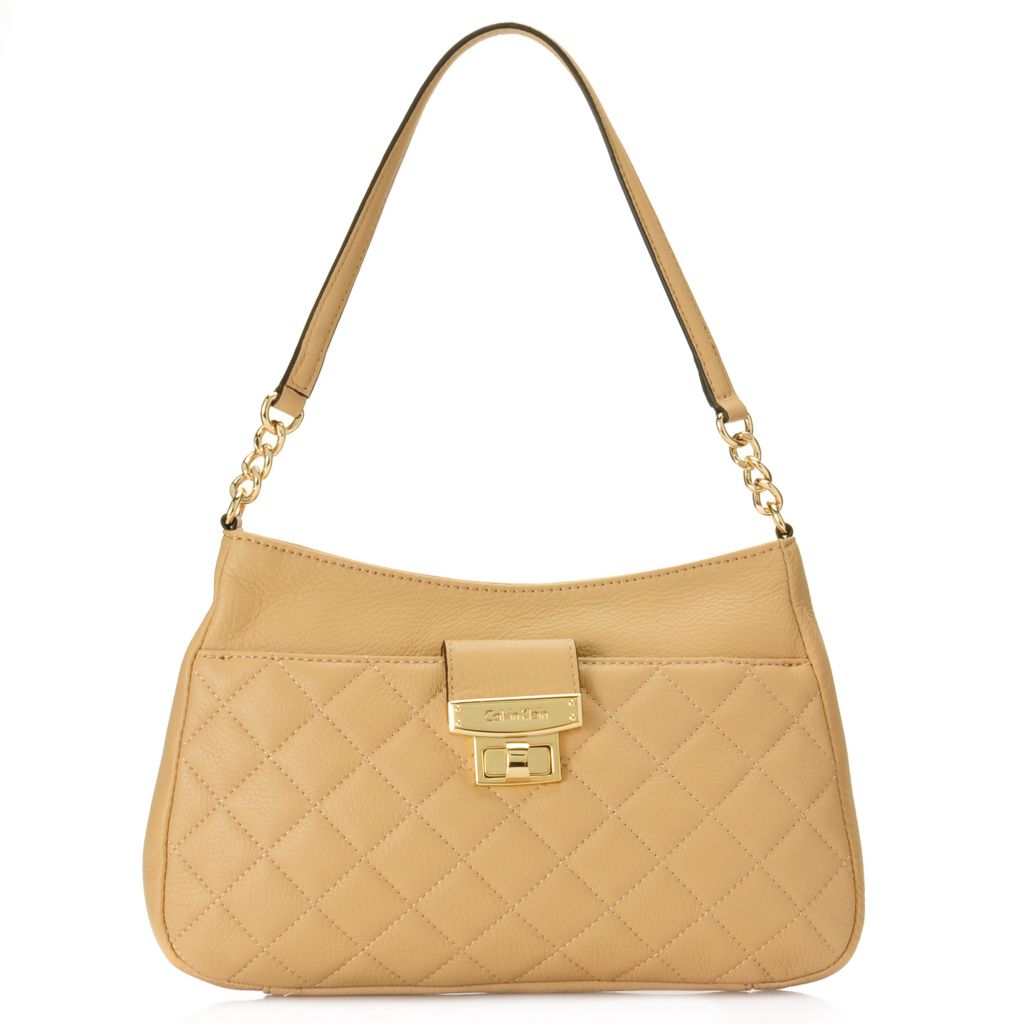 716-934 - Calvin Klein Handbags Quilted Leather Shoulder Bag