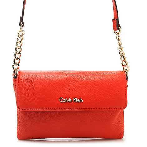 716-935 - Calvin Klein Handbags Pebbled Leather Cross Body