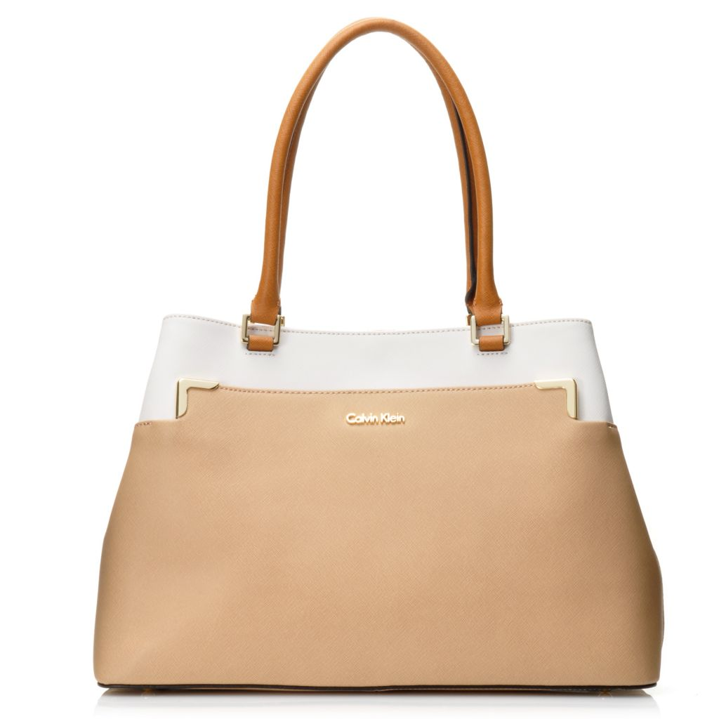 716-938 - Calvin Klein Handbags Saffiano Leather Tote