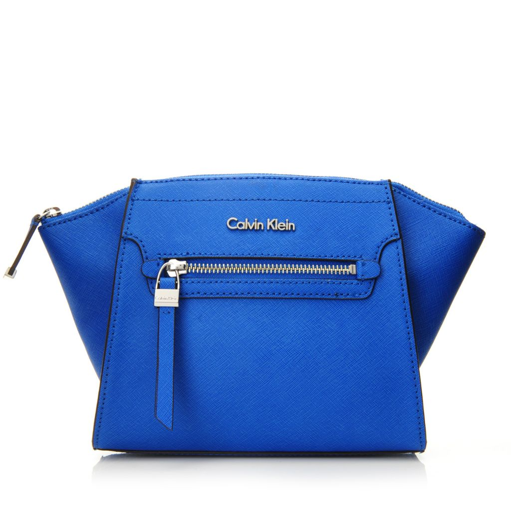716-940 - Calvin Klein Handbags Saffiano Leather Zipper Clutch