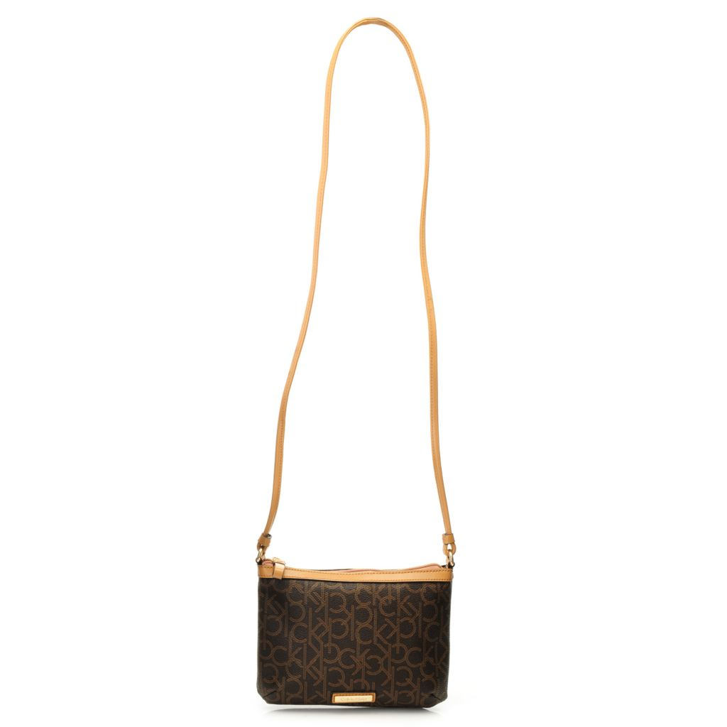 716-944 - Calvin Klein Handbags Logo Coated Canvas Cross Body