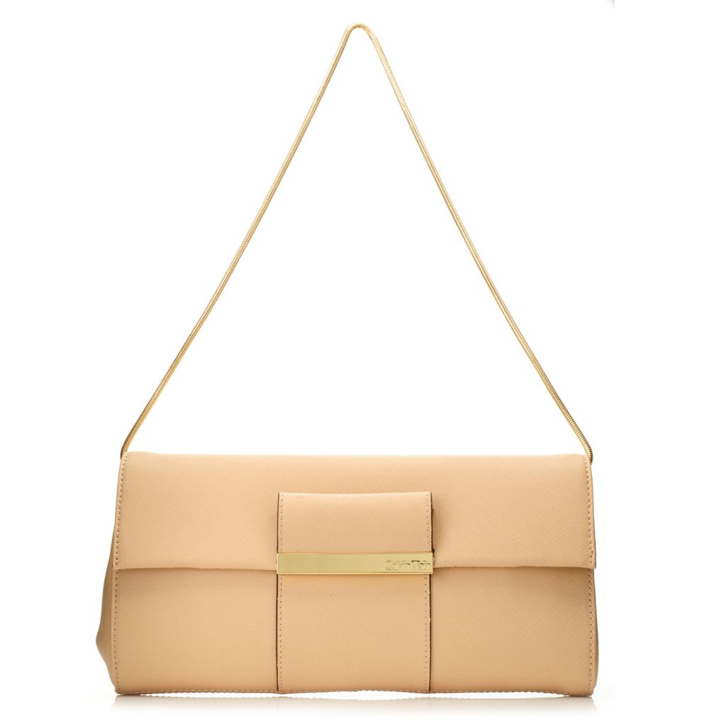 716-945 - Calvin Klein Handbags Saffiano Leather Clutch