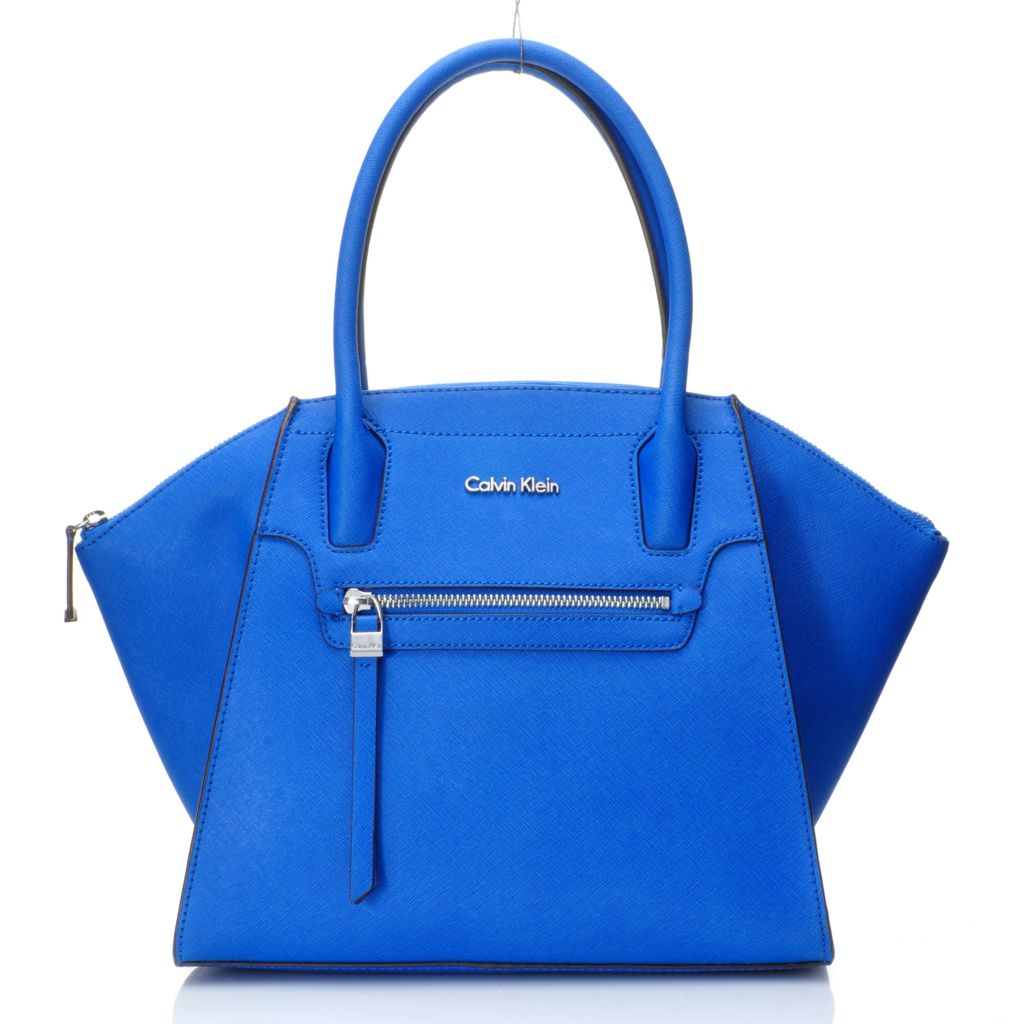 716-948 - Calvin Klein Handbags Saffiano Leather East-West Satchel