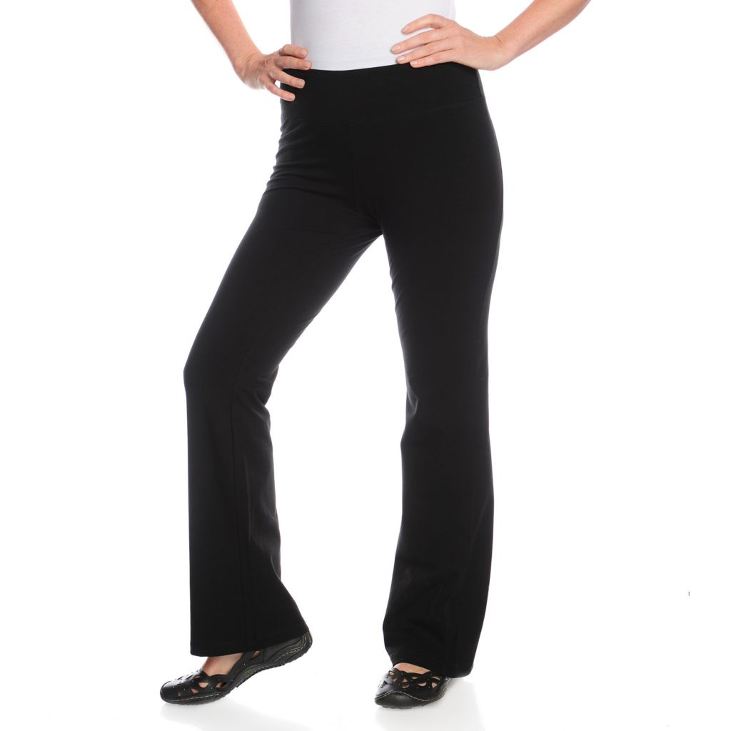 716-954 - One World Stretch Knit Wide Waist Pull-on Yoga Pants