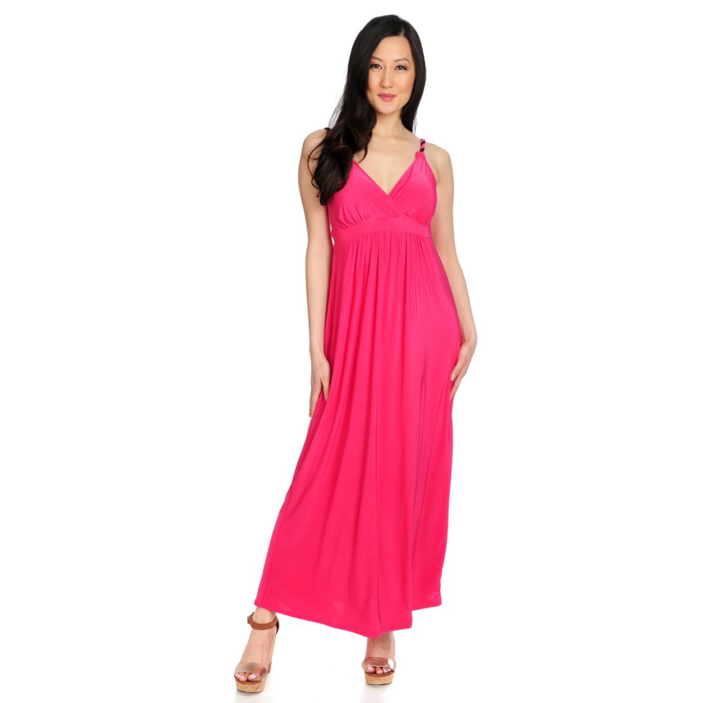717-029 - Slim-A-Size Stretch Knit Everyday Control Bust Enhancing Maxi Dress