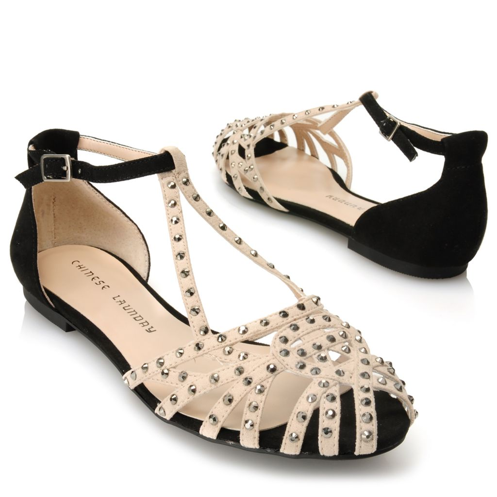 717-039 - Chinese Laundry Rhinestone Embellished Strappy Sandals