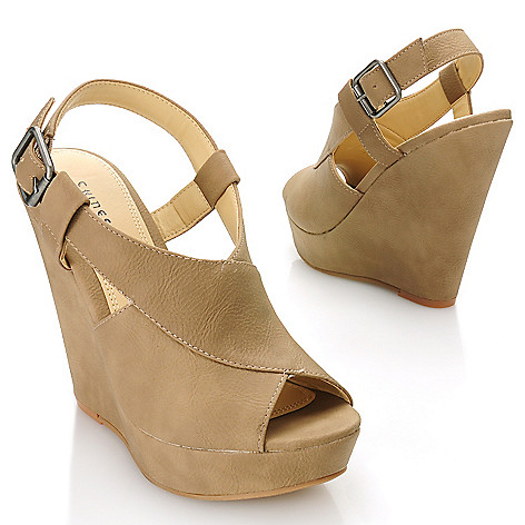 717-045 - Chinese Laundry ''Mindy'' Crossover Wedge Heels