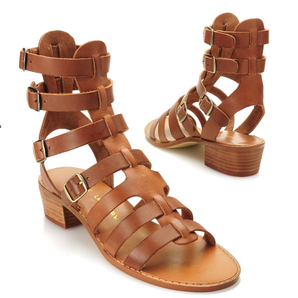 717-047 - Chinese Laundry Leather Strappy Gladiator-Style Sandals