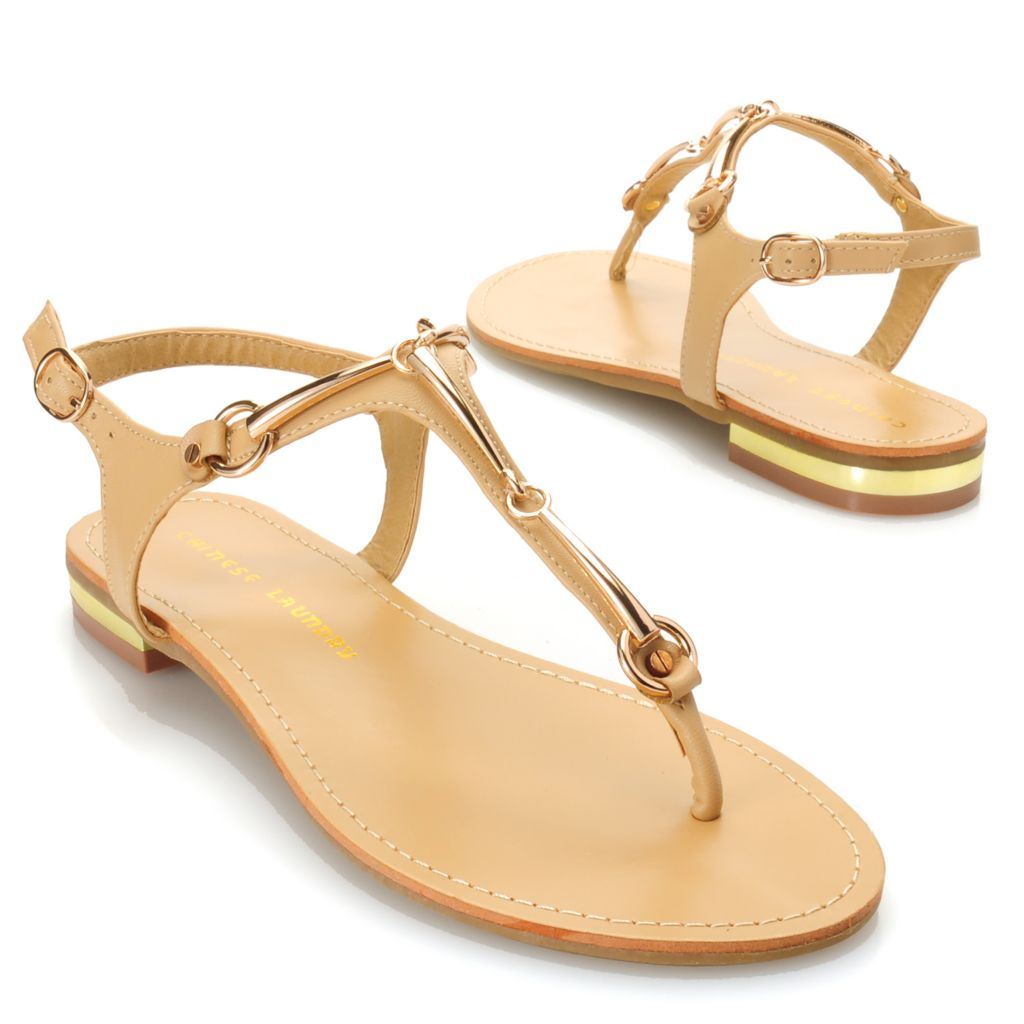 717-048 - Chinese Laundry Ankle Strap Thong Sandals