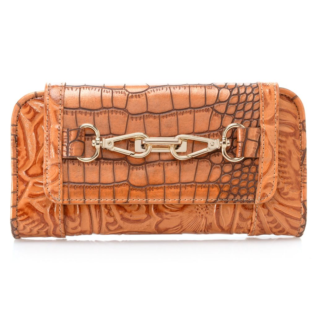 717-063 - Madi Claire Croco & Tool Embossed Flap-over Wallet