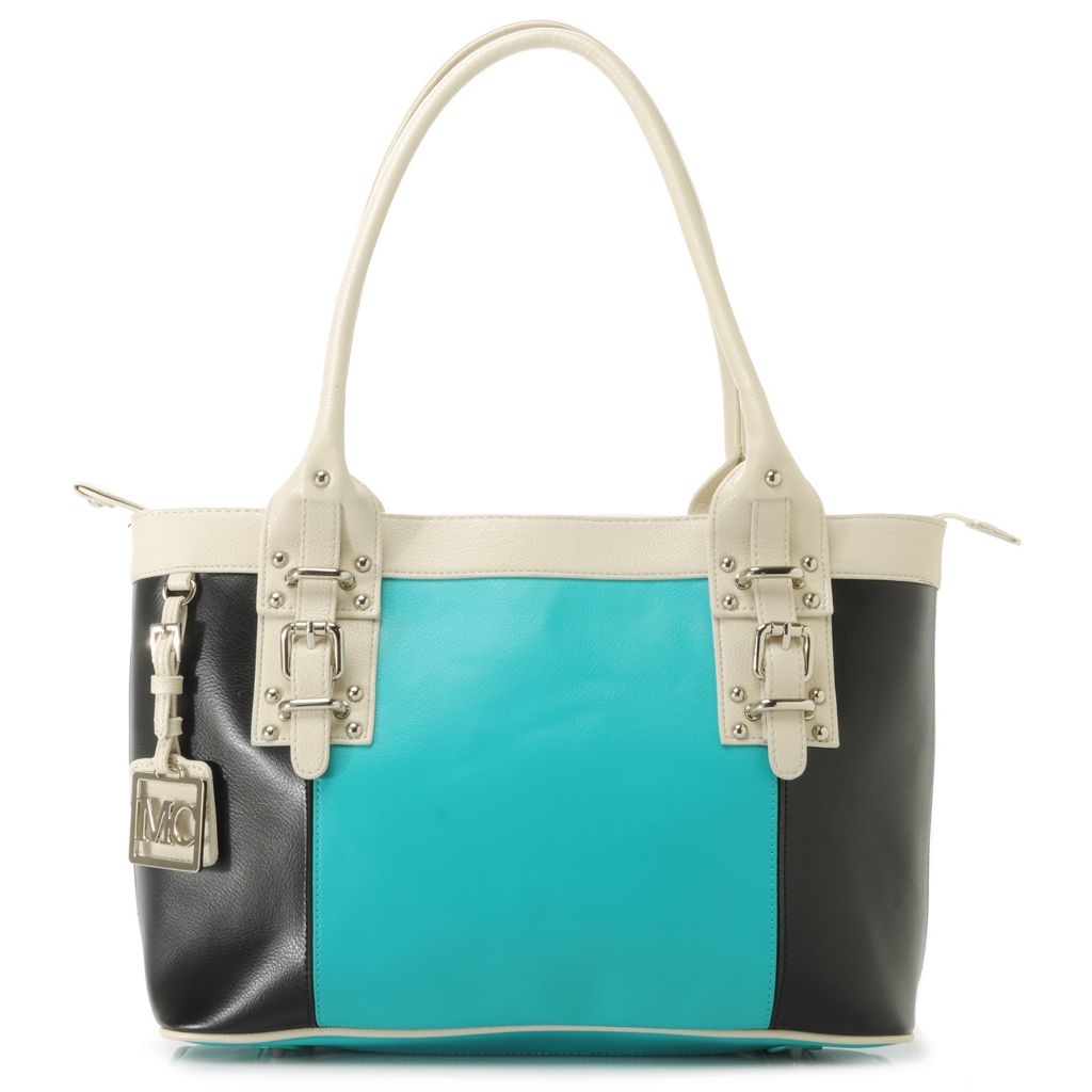 717-233 - Madi Claire Smooth Leather Double Handle Buckle Detailed Shopper Tote Bag