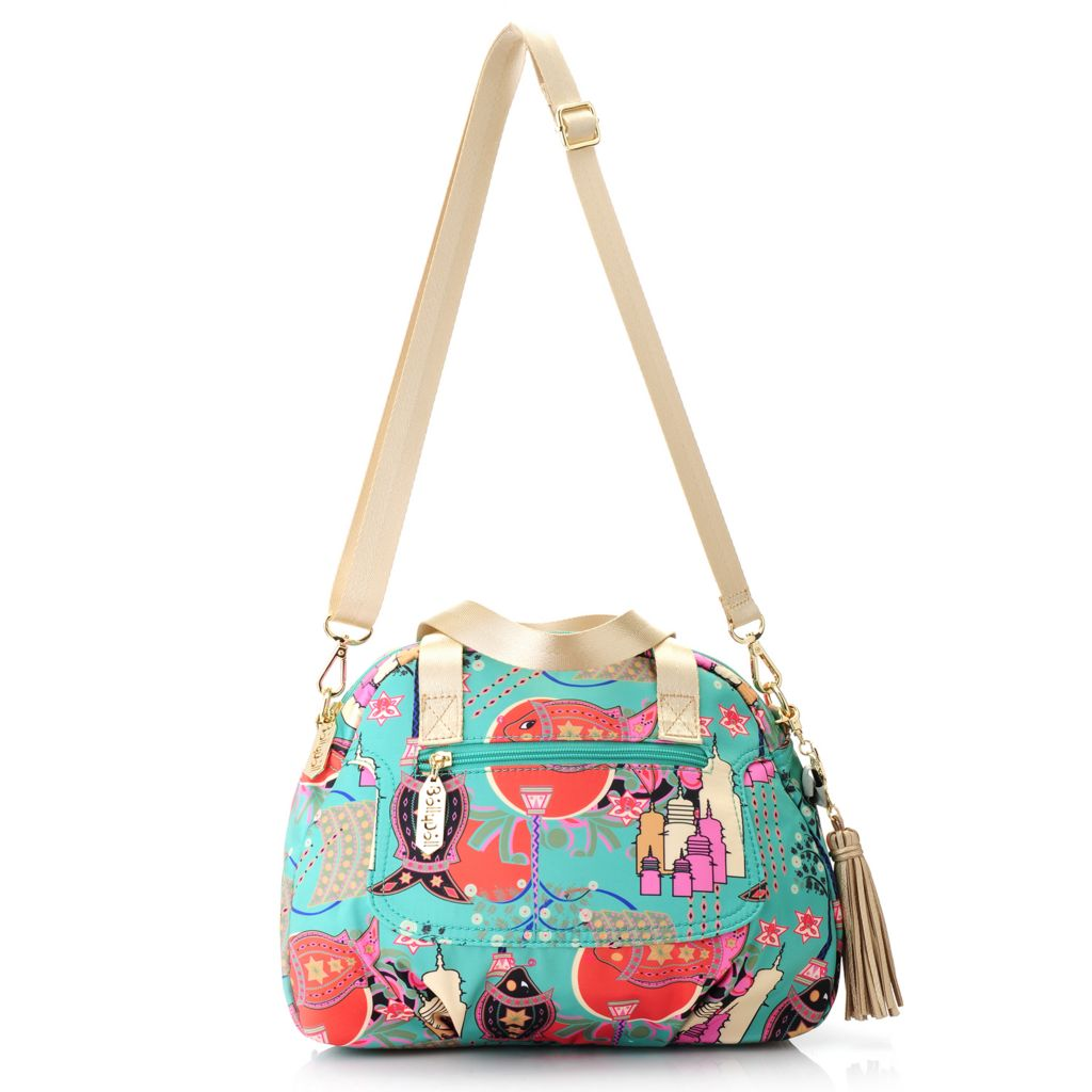 717-263 - BollyDoll™ Printed Double Handle Zip Top Convertible Satchel