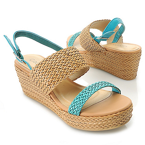 717-281 - Matisse ''Kerri'' Woven Platform Wedge Sandals