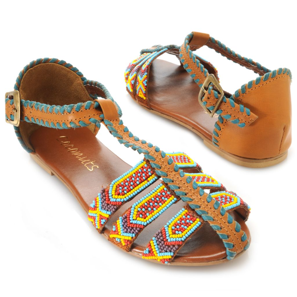 717-282 - Matisse® Beaded Design Whip Stitched Flat Sandals