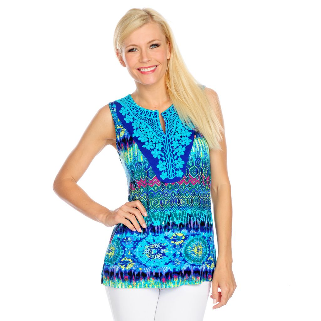 717-306 - Love, Carson by Carson Kressley Stretch Knit Sleeveless Keyhole Top