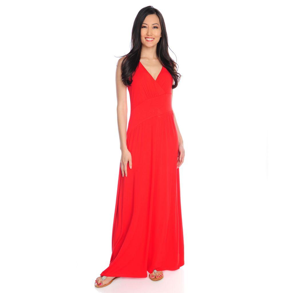 717-309 - Love, Carson by Carson Kressley Stretch Knit Sleeveless V-Neck Maxi Dress