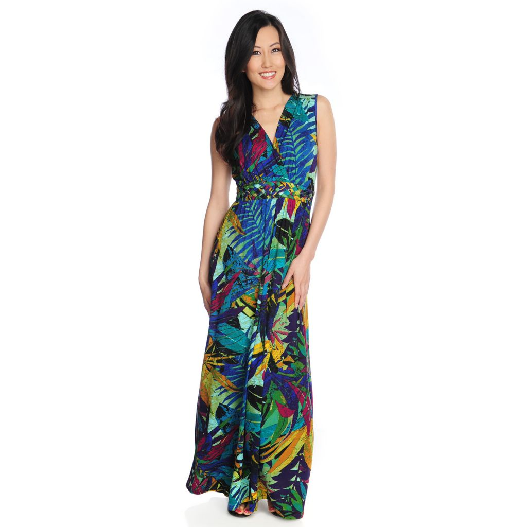 717-310 - Love, Carson by Carson Kressley Stretch Knit Sleeveless Printed Maxi Dress